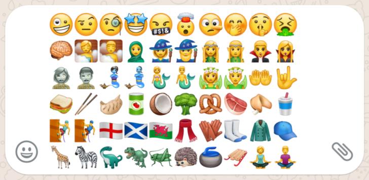 WhatsApp beta 2.17.397 adds new emojis for fantasy, facial ...