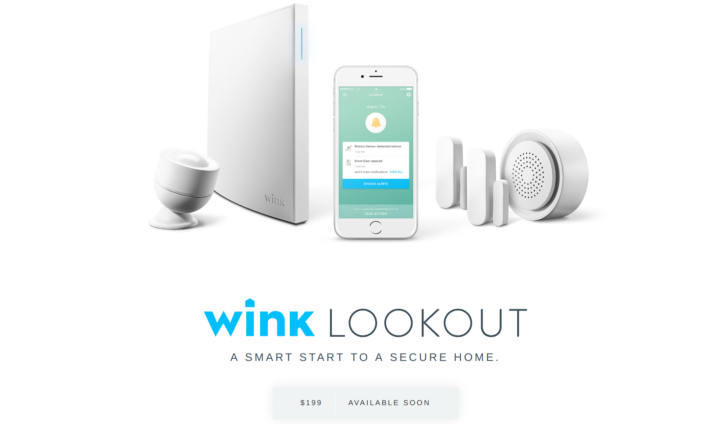 wink announces lookout a 199 home security system without monthly fees