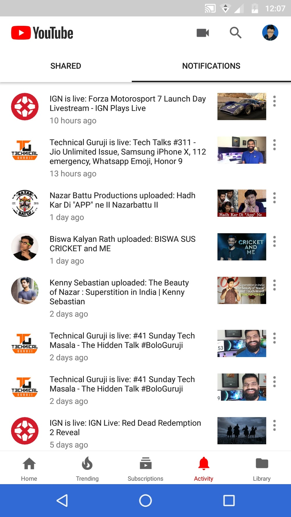 Youtube is testing a new activity bottom tab for shared videos and youtube shared video discussions with friends as well as catch up on all the recent uploads live broadcasts and activity from the channels you follow ccuart Gallery
