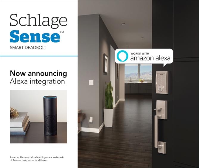 Schlage Sense Smart Deadbolt Lock Now Works With Amazon
