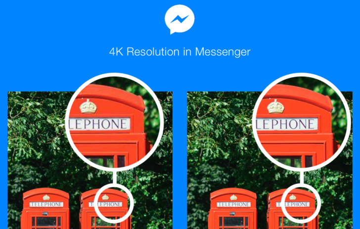 Facebook messenger now lets you send 4k video and stills