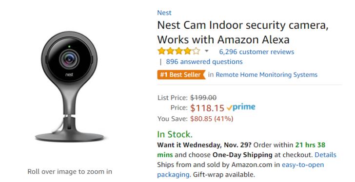 Deal Alert Amazon Discounts Nest Cam To 118 81 Off
