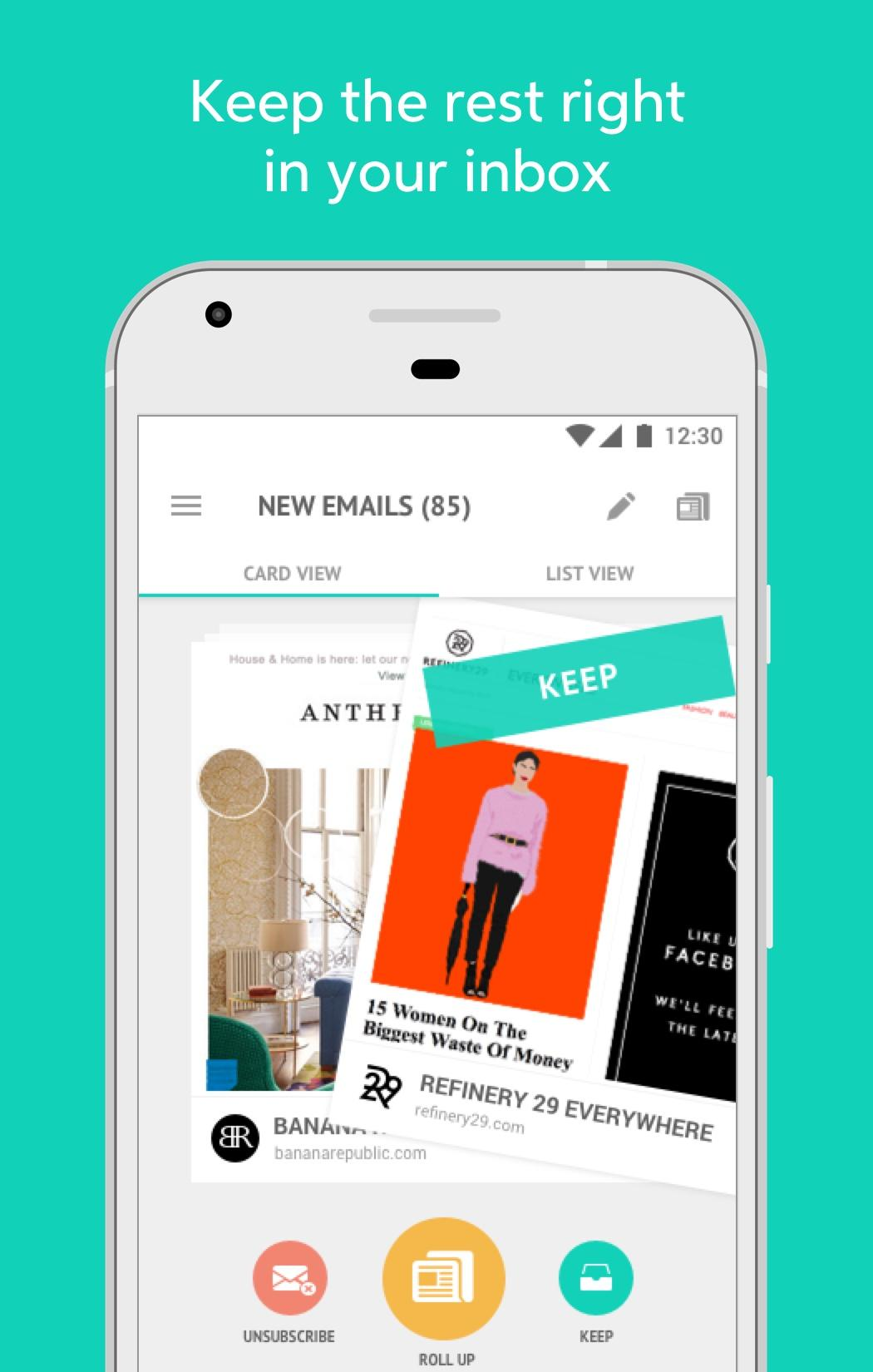 Unroll me app arrives on Android to save you from a cluttered inbox