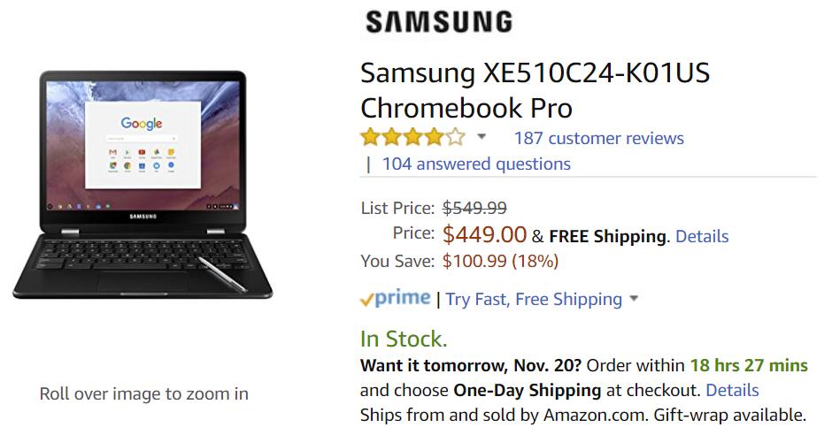 Deal Alert] Samsung Chromebook Pro for $449 and Chromebook