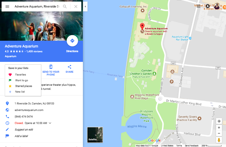Google Maps now lets you create and share lists of places from your on