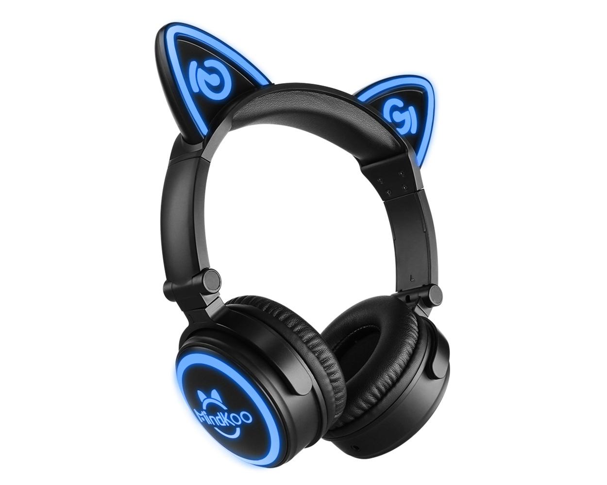 mindkoo unicat cat ear bluetooth headphones are a fun and. Black Bedroom Furniture Sets. Home Design Ideas