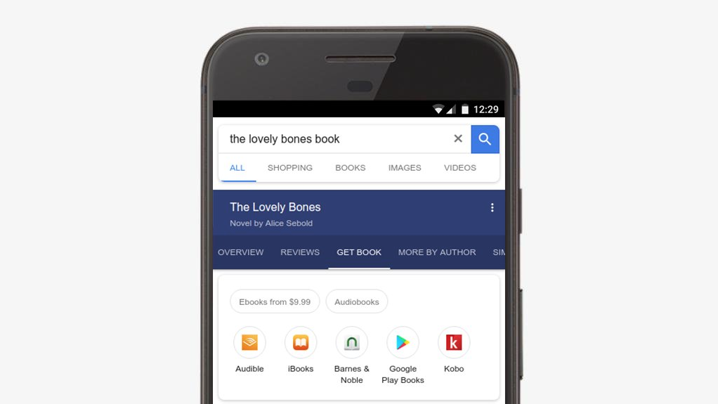 Google Search now sports options for audiobooks
