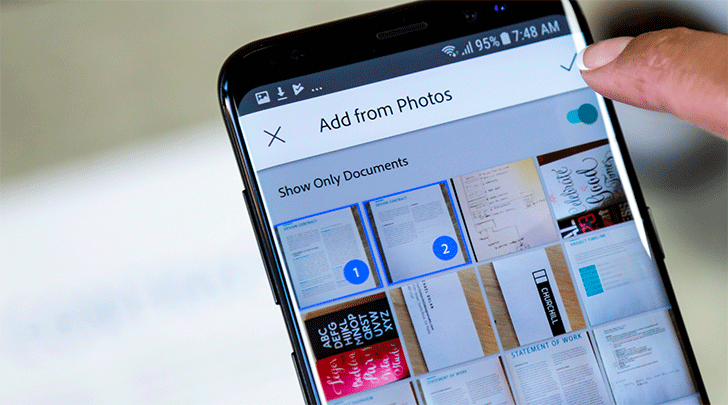 Adobe Scan can now search your photos for documents using machine