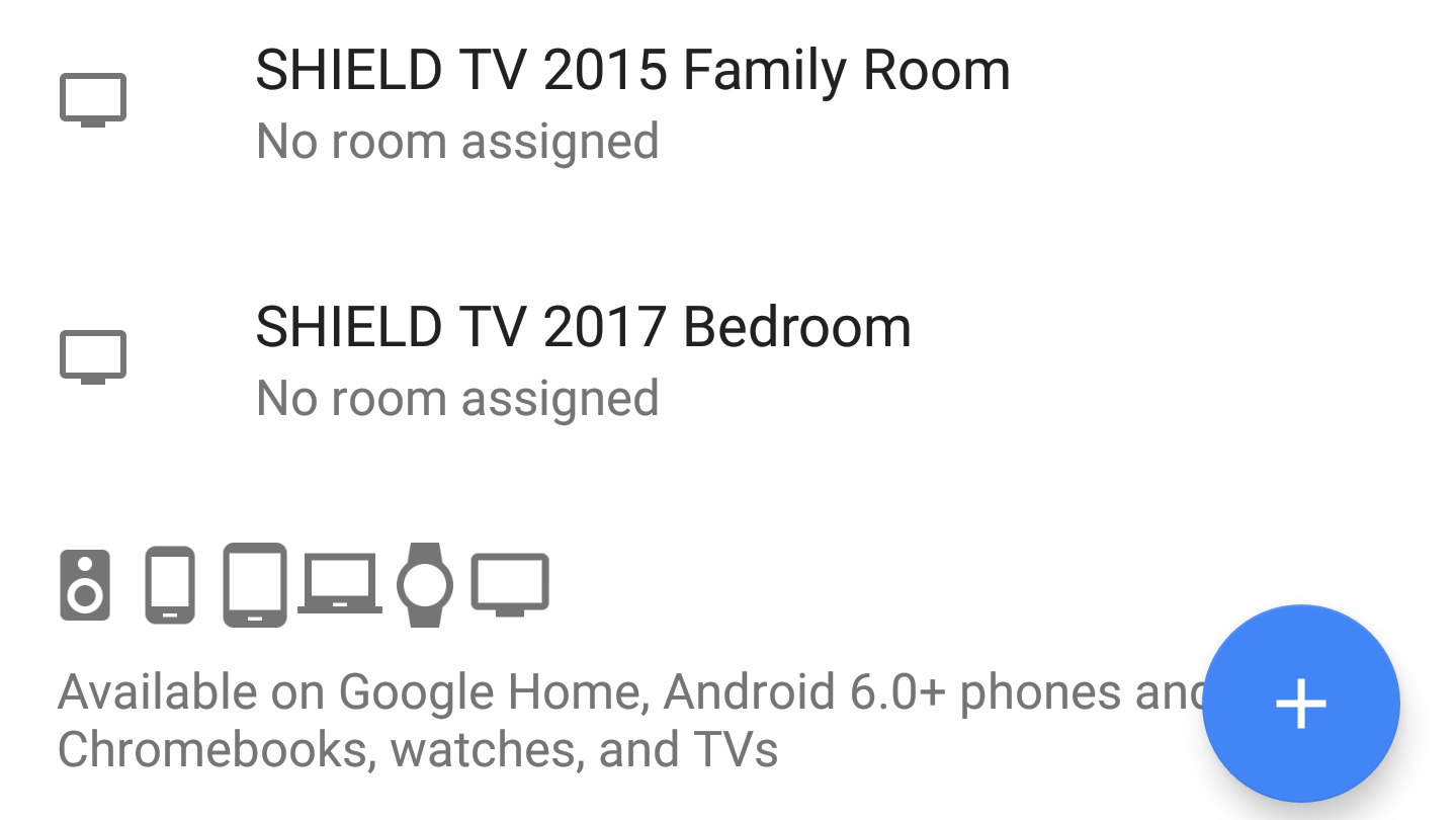 You can now assign Android TV devices with Assistant to