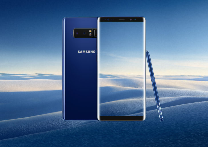 Deepsea Blue Galaxy Note 8 officially launching in the US next week