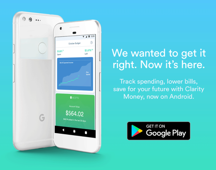 Clarity Money A Personal Finance Manager That Helps Users Save Cash Launches On Android