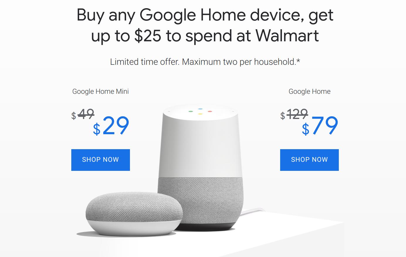 Google Mini Walmart 25