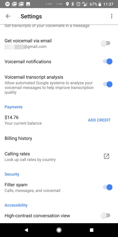 Google Voice 5 5 adds billing history [APK Download]