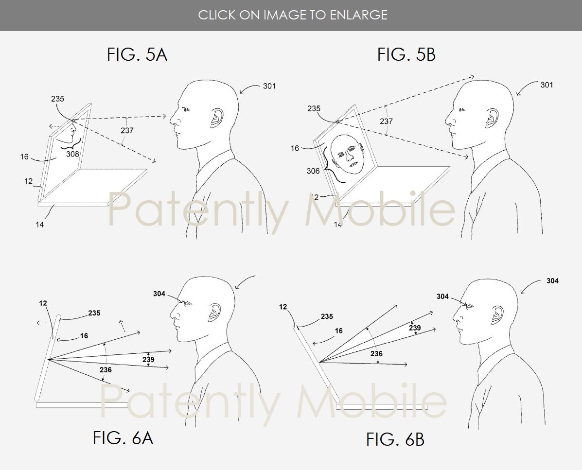 Google Patents Laptop Hinge That Automatically Aligns With The User's Face