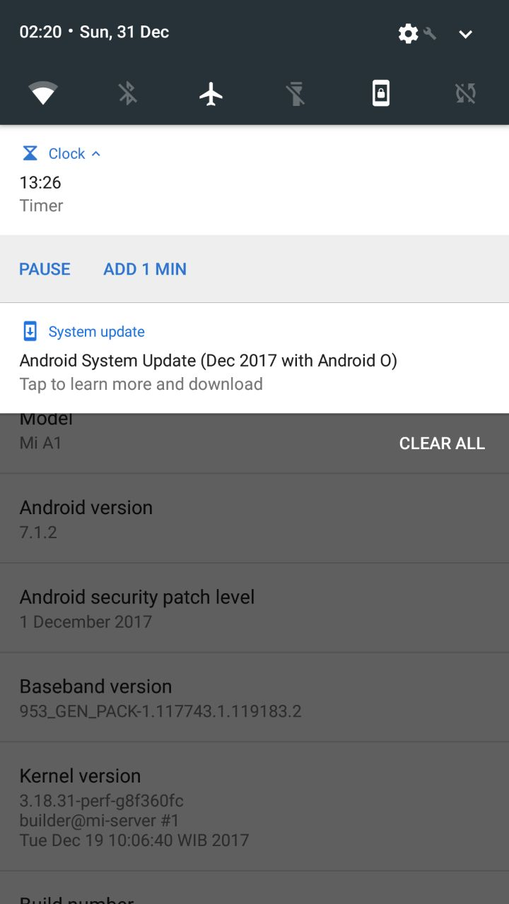 Android 8 0 Oreo rolling out to Xiaomi Mi A1
