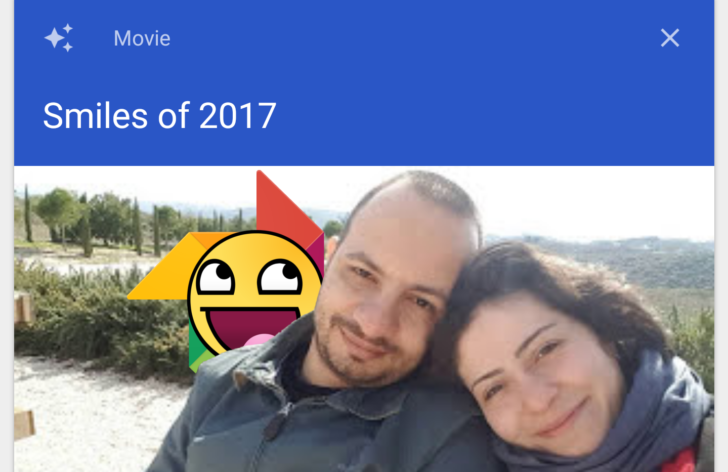 Google Photos Starts Showing 'Smiles of 2017' Video Collage