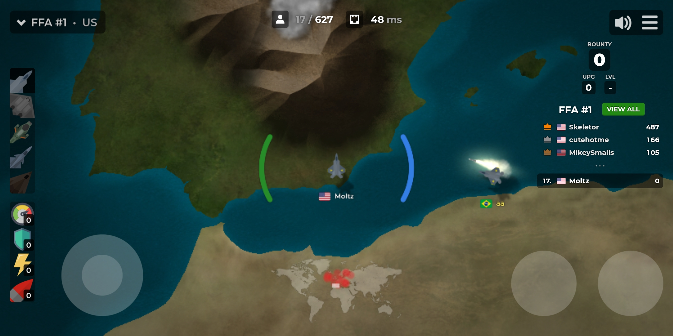 Five Sigma's HTML5-based aircraft battle  io game 'Airmash