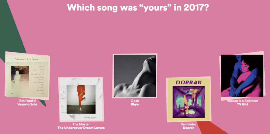 Your 2017 Wrapped by Spotify is a musical year in review with a new