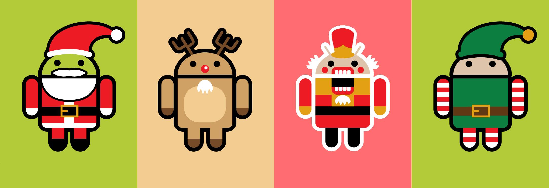 nexus2cee android logos christmas