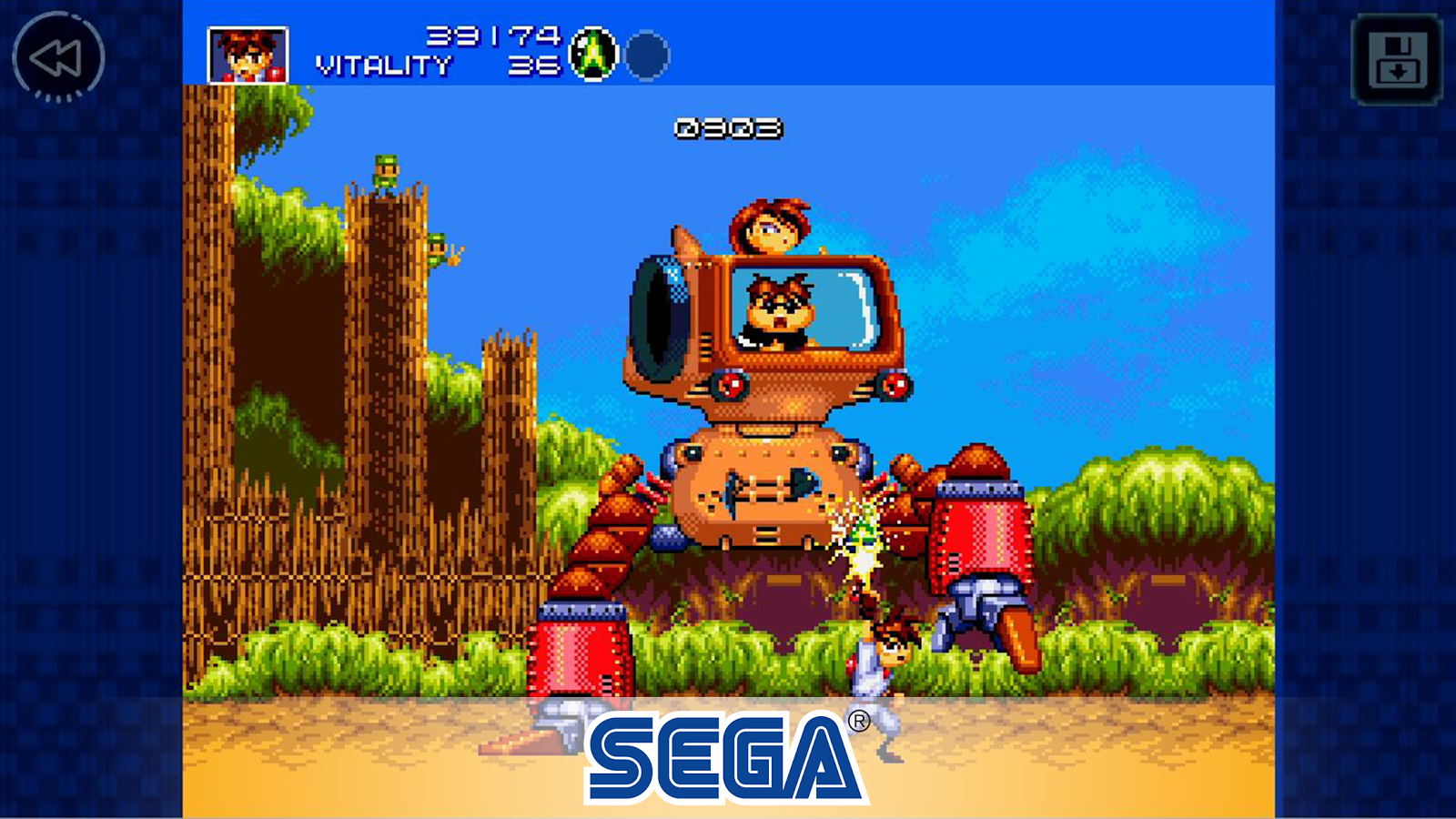 gunstar heroes is the newest entry in the sega forever classic games