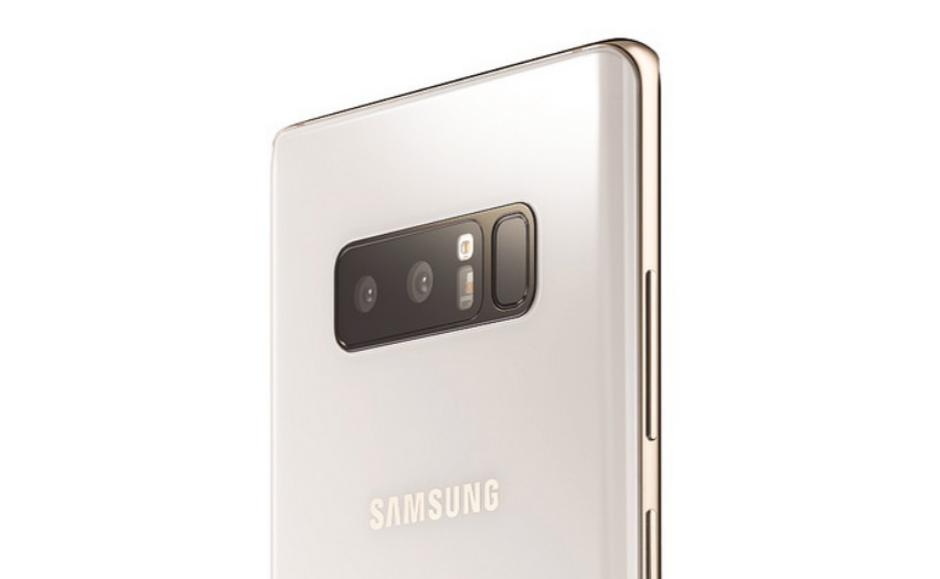 Galaxy Note8 Olympic Games Limited Edition comes with a white back, gold accents, and themed wallpapers
