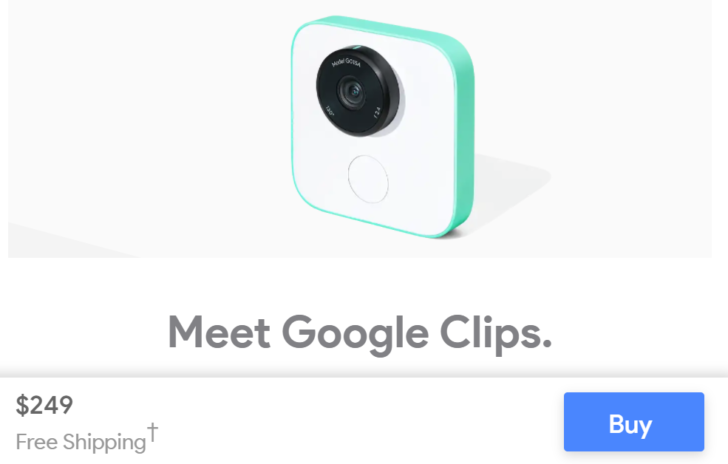 Google Clips are now available