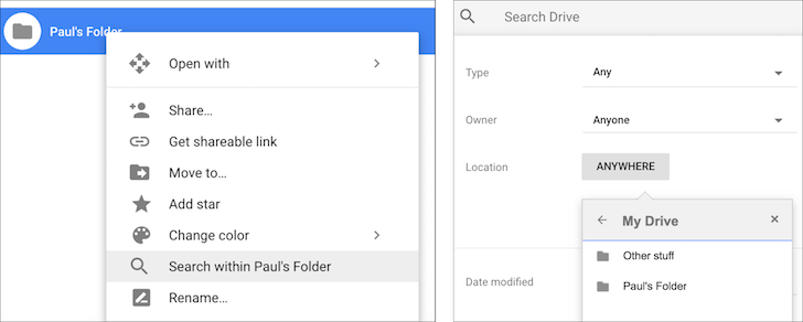 G Suite adds search within folders along with accessibility upgrades