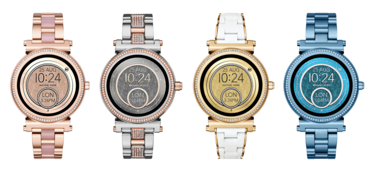 Michael Kors releases new models of Grayson and Sofie Android Wear watches in a variety of colors