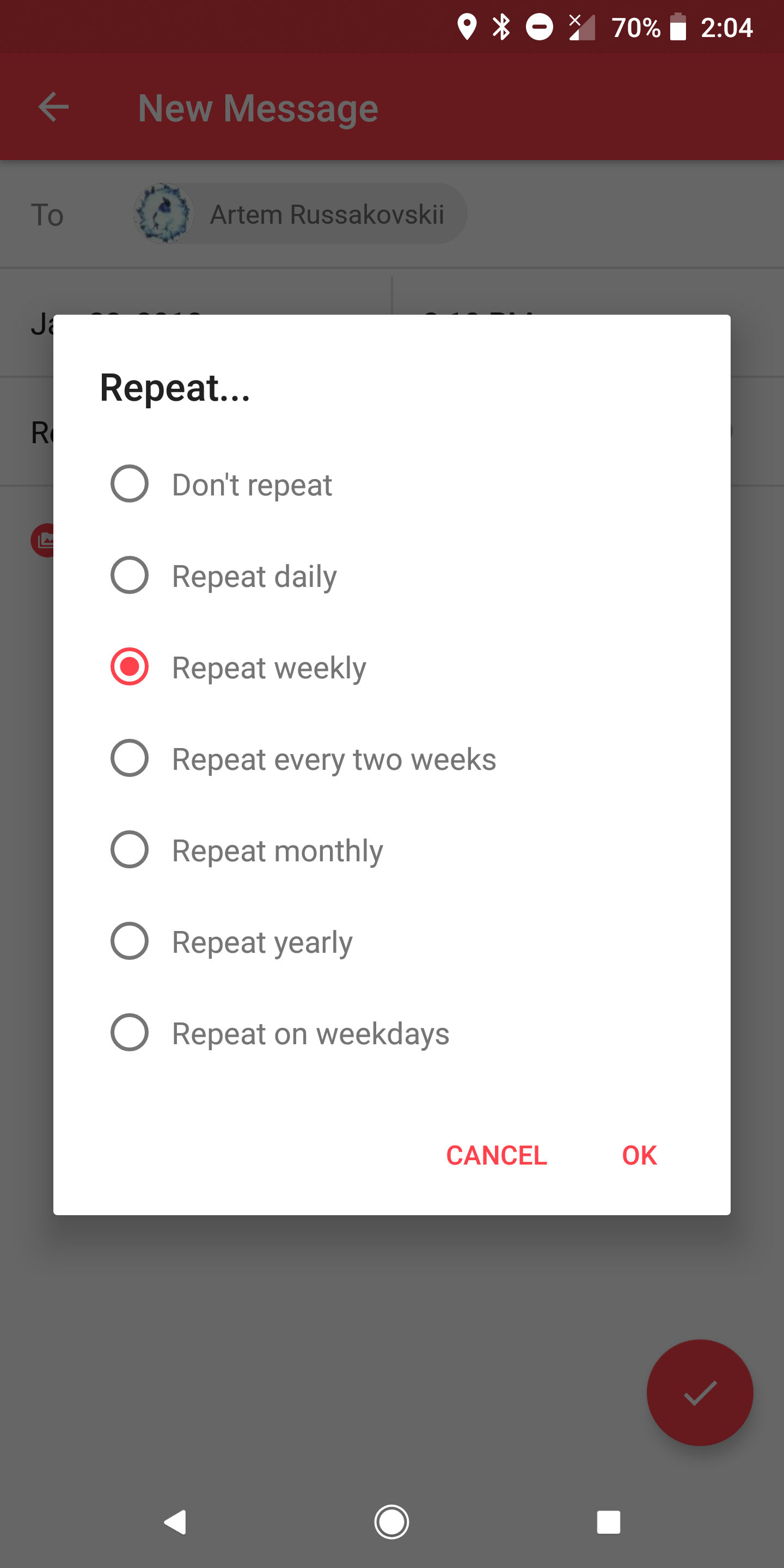 Hands-on] Scheduled lets you write, schedule, and auto-send messages