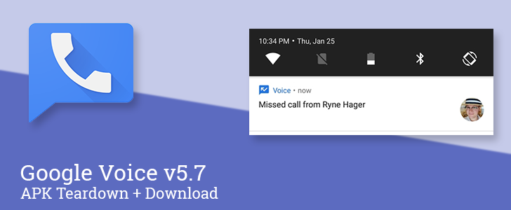 Update: Official changelog] Google Voice v5 7 prepares to enable