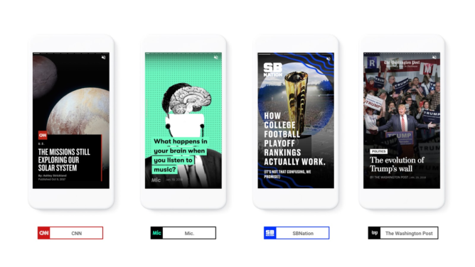 Google brings Snapchat Stories to the web through its AMP scheme