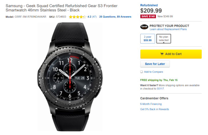 [Deal Alert] Refurbished Samsung Gear S3 Frontier On Sale