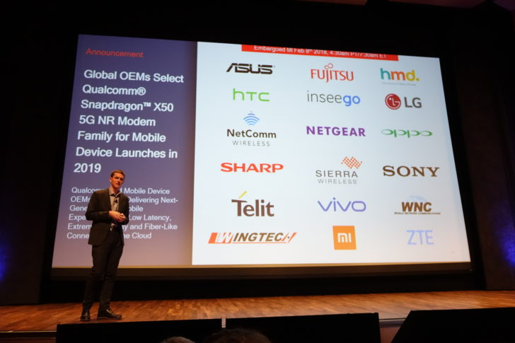 OEMs and carriers are committed to the Qualcomm Snapdragon X50 5G modem