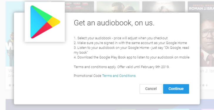 Deal alert check your email google is giving free audiobooks to if you own one of googles home devices you might want to keep an eye on your emails inbox google is giving some people their choice of a free audiobook fandeluxe Image collections