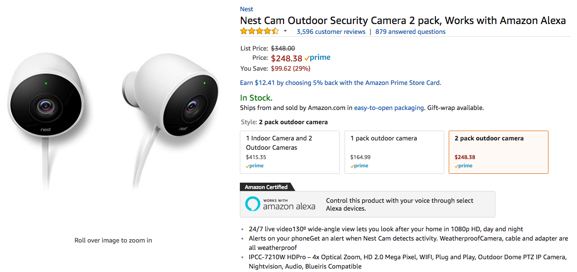Deal Alert] Nest Cam Outdoor two-pack is just $248.38 ($99.62 off ...