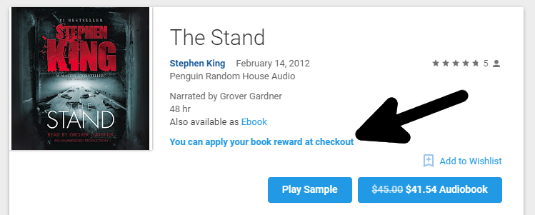 Deal alert check your email google is giving free audiobooks to from what i can tell the promo appears to work for any book if you follow the link in the email youre presented with some of googles popular choices fandeluxe Images