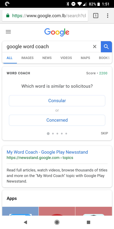 Word Coach Google