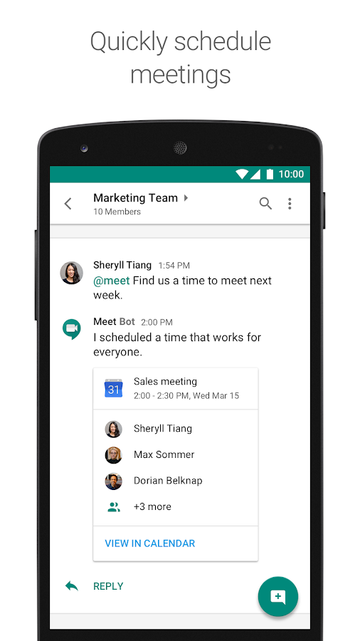 Hangouts Chat, Google's messaging service for teams, is