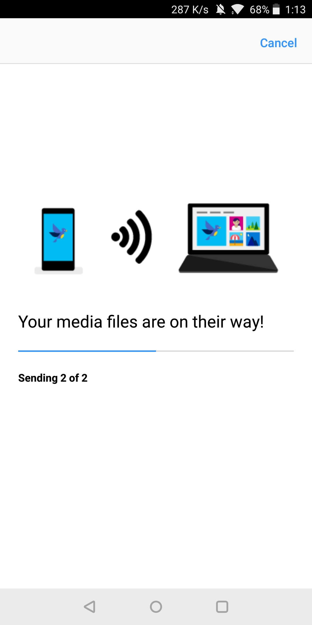how to send photos from your mac to your android