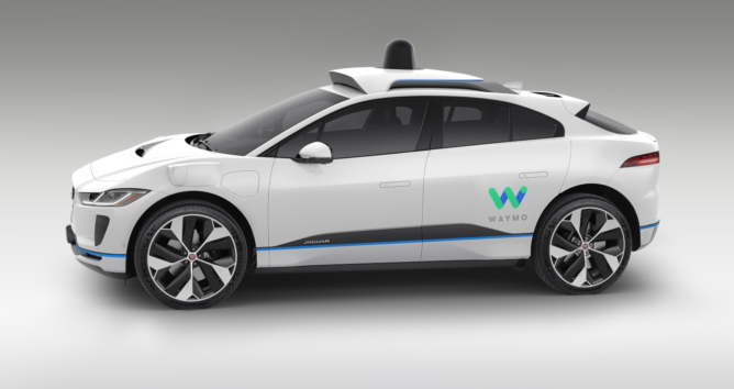 Google is turning Jaguar's electric I-Pace into a self-driving taxi