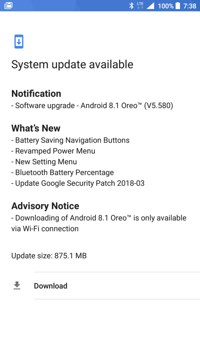 Nokia 5 Android 8.1 Changelog