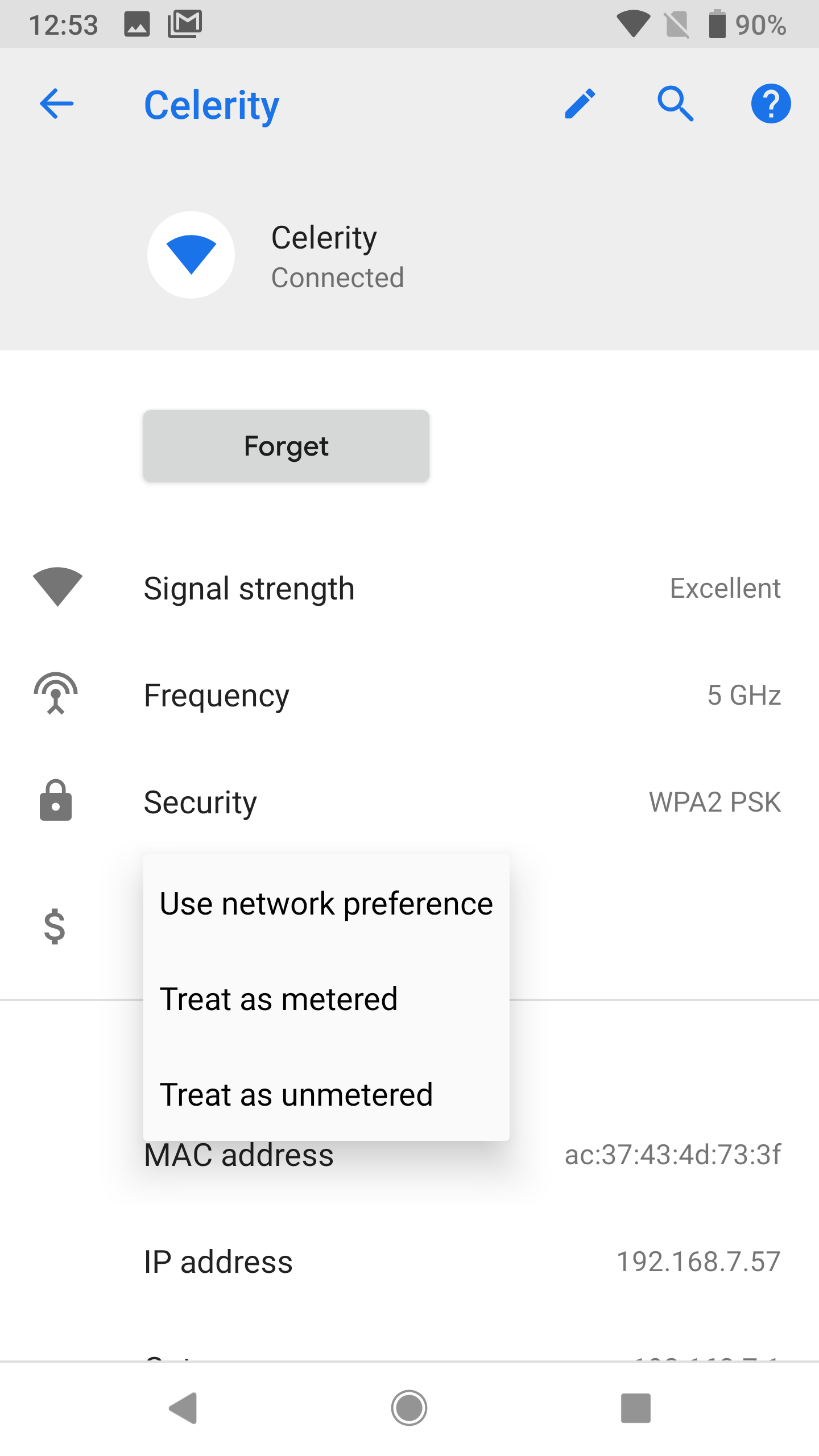 Android P feature spotlight: Mark WiFi as metered from the