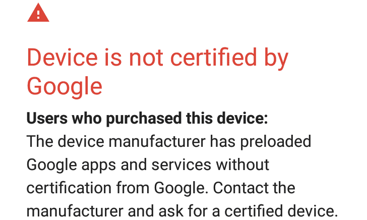Google is starting to block GApps on 'uncertified' devices, but you can register an exemption for ROMs