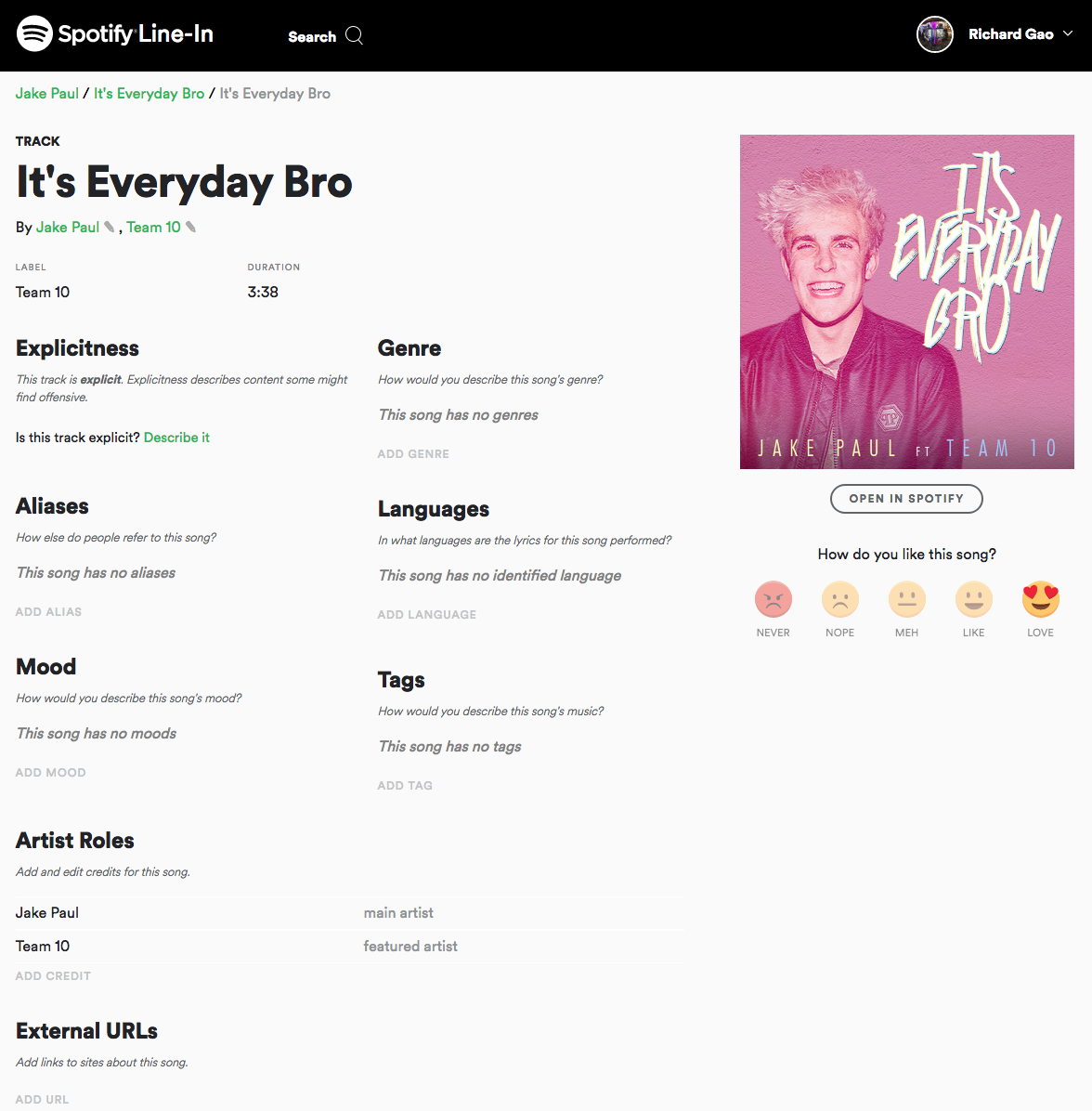 Spotify taps users to add music metadata with new feature