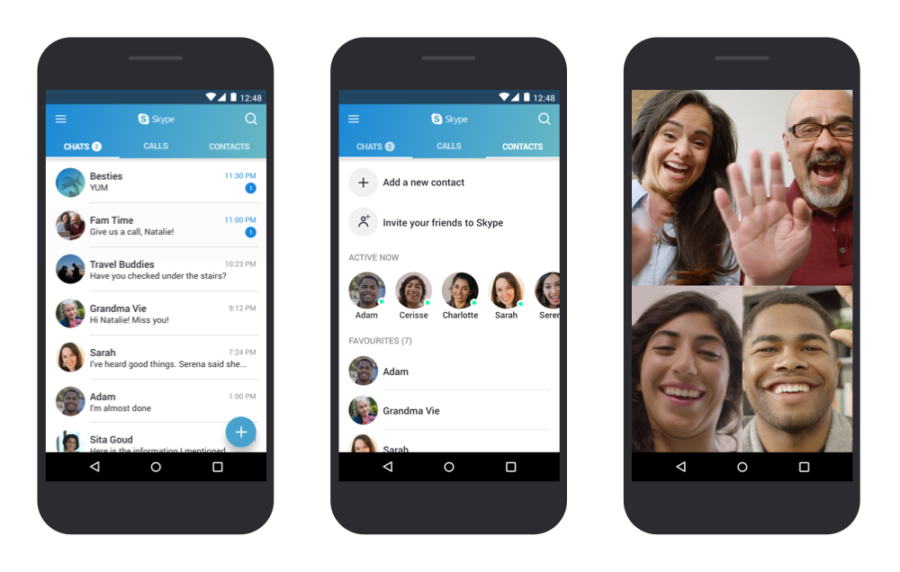 skype pour tablette android 4.0.4