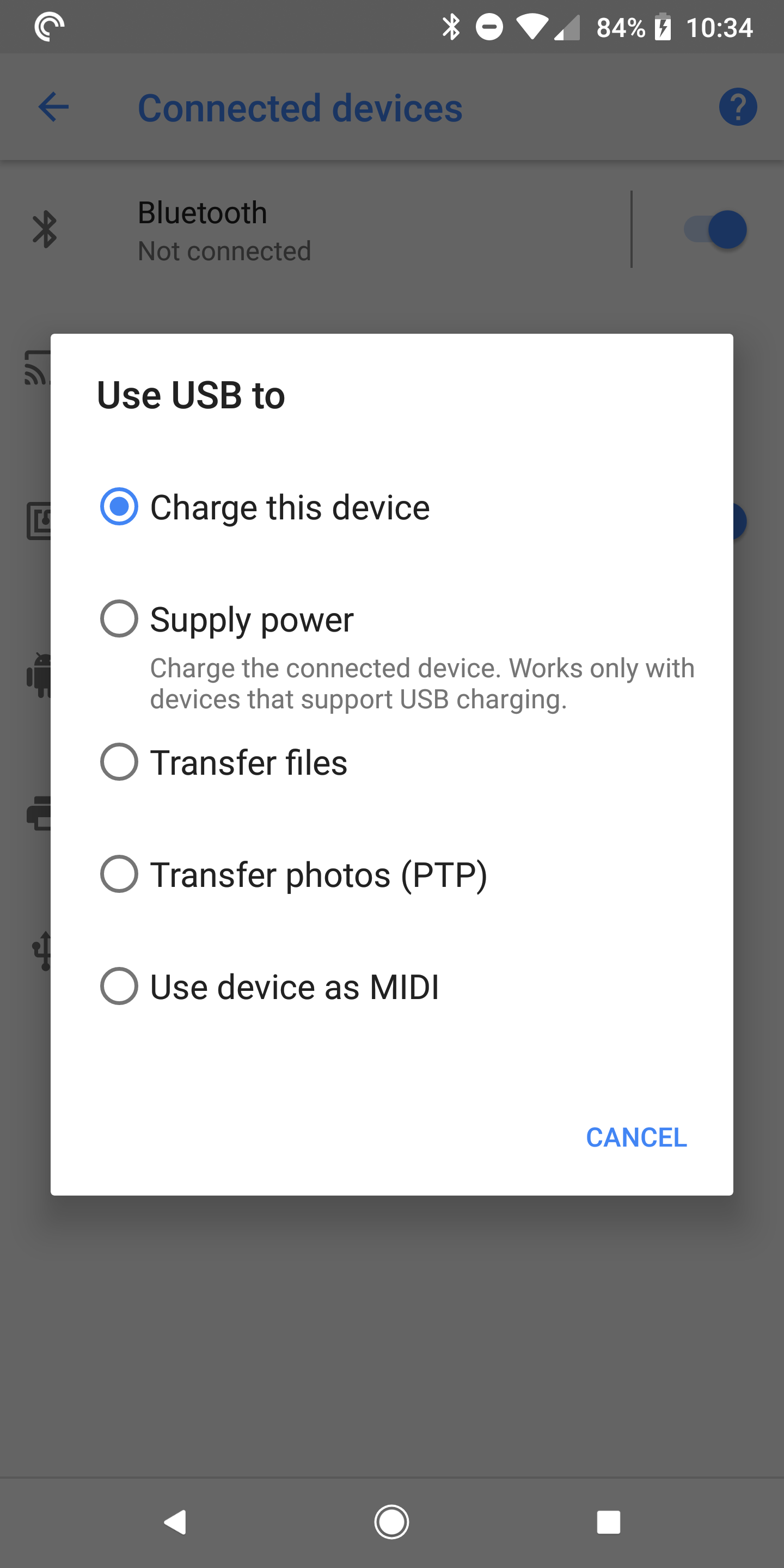 Android P feature spotlight: USB menu gets revamped, lets