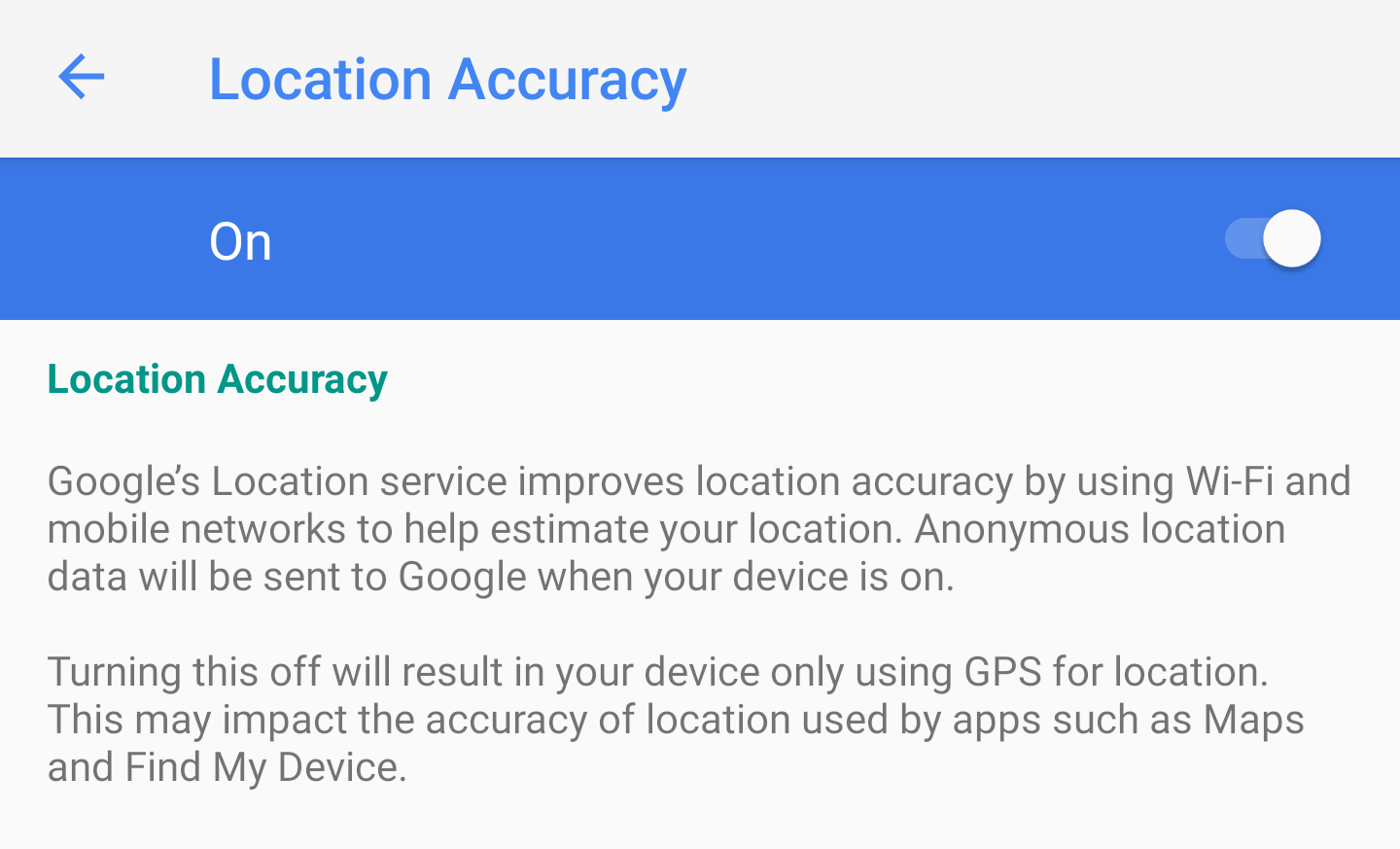 Android P feature spotlight: Location accuracy is now a