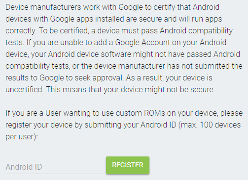Google is starting to block GApps on 'uncertified' devices