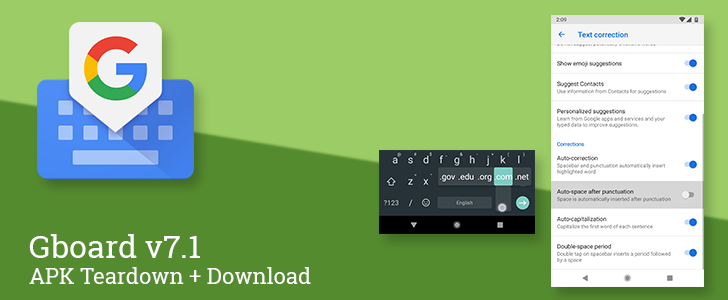 Gboard v7.1 beta adds auto-spacing after punctuation, about 20 new languages and dialects, and more [APK Teardown]
