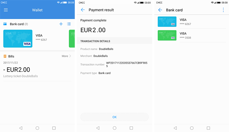 Huawei Wallet arrives in the Play Store